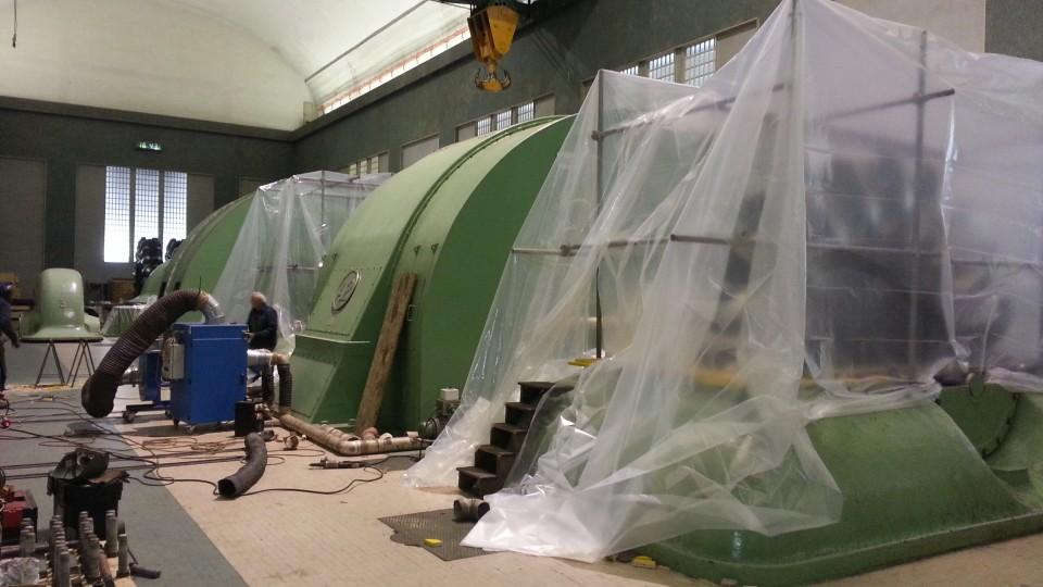 Intervento di riprofilatura in centrale- Giranti Diam. est da 4.350 mm