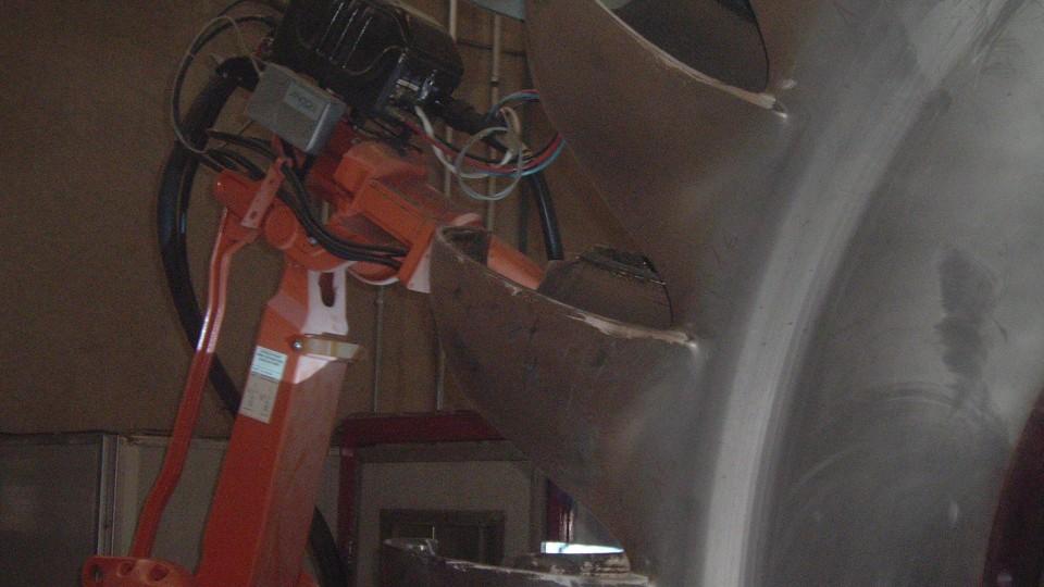 Riporto di girante pelton con impianto robotizzato