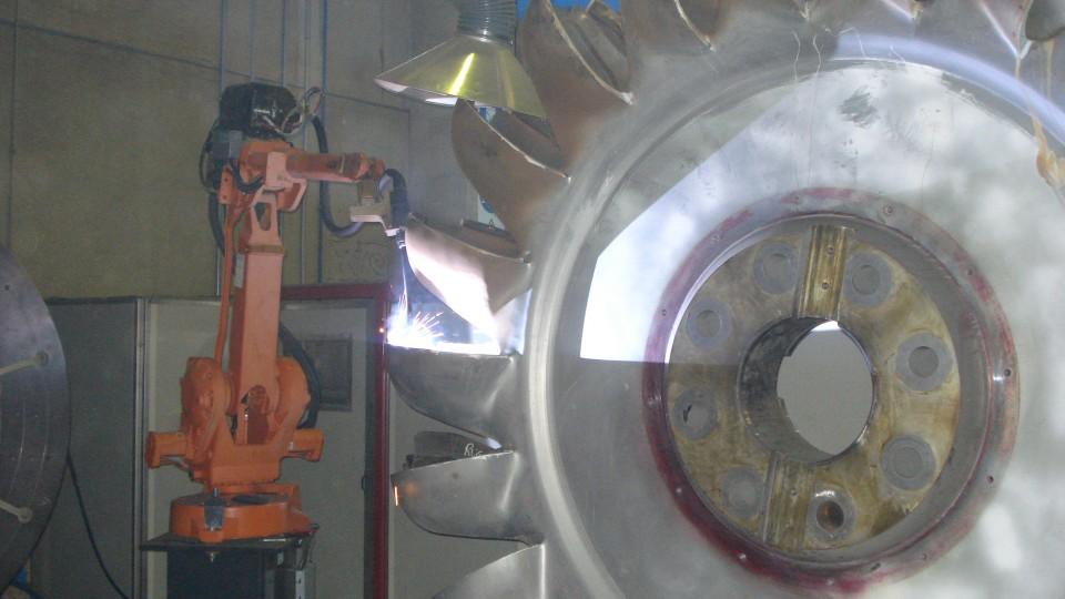 Rigenerazione totale girante pelton, con impianto robotizzato