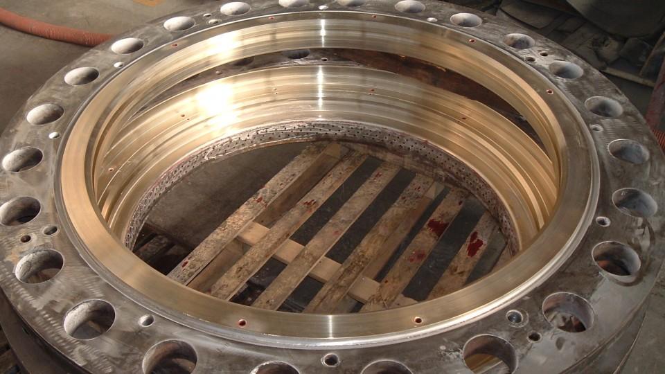 Tenute per valvole Hydro - Riporto in Bronzo Alluminio, dopo la lavorazione di macchina